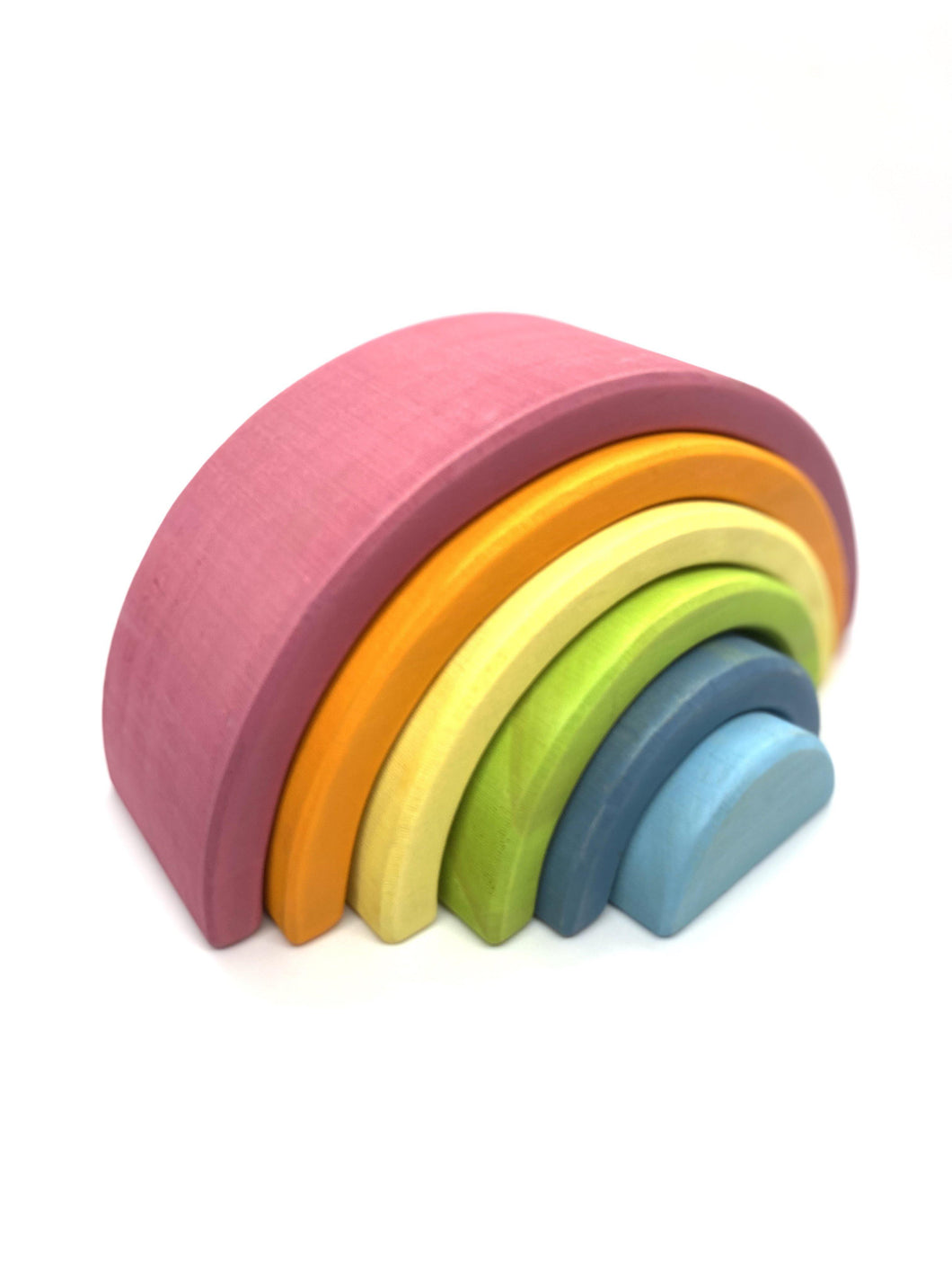 Pastel Rainbow Montessori Stackers - 6pc - My Eco Tot