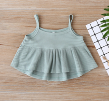 Load image into Gallery viewer, Ruffle Tank + Floral Bloomers - Baby Girl Summer Set - My Eco Tot