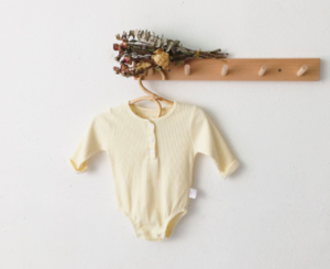 Harry Henley - Classic Cream Onesie - My Eco Tot