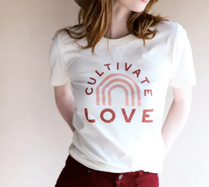 Cultivate Love Adult Tee - Unisex - My Eco Tot