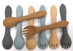 Silicone Fork Spoon Set - BPA Free - My Eco Tot