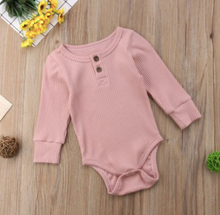 Load image into Gallery viewer, Ribbed Long Sleeve Onesie - My Eco Tot