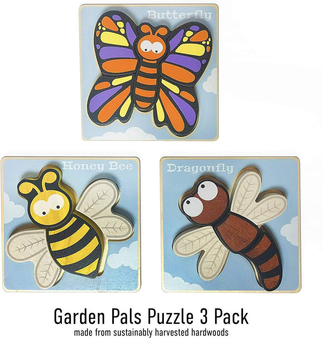 Garden Pals Puzzles 3-Pack - Chunky Pieces 5 piece Puzzles - My Eco Tot