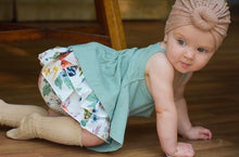 Load image into Gallery viewer, Ruffle Tank + Floral Bloomers - Baby Girl Summer Set