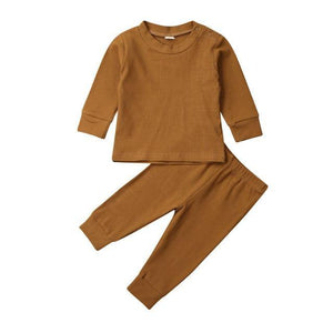 Everyday Ribbed Set - Mustard - My Eco Tot