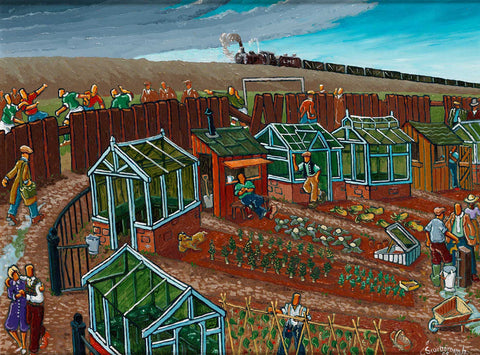 The Allotment Oil Painting