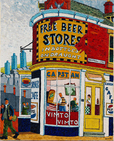 Beer Store on Bramall Lane Oil Painting