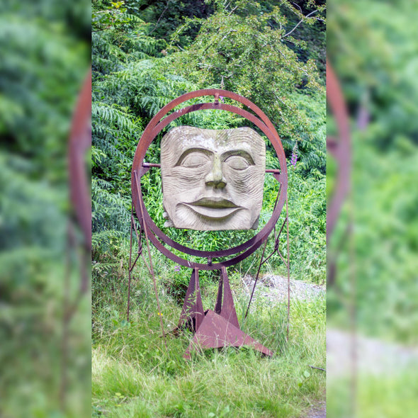 Behind the mask Sculpture by Andrew Vickers (Stoneface) - Joe Scarborough Art