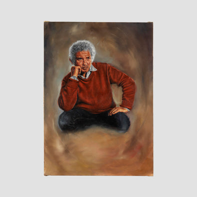 """Man with curly white hair"" by Darren Baker, Original Oil On Canvas - Joe Scarborough Art"