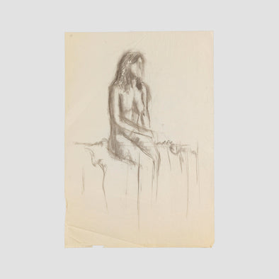 """Sitting Woman"" by Darren Baker, Original Sketch On Art Paper - Joe Scarborough Art"