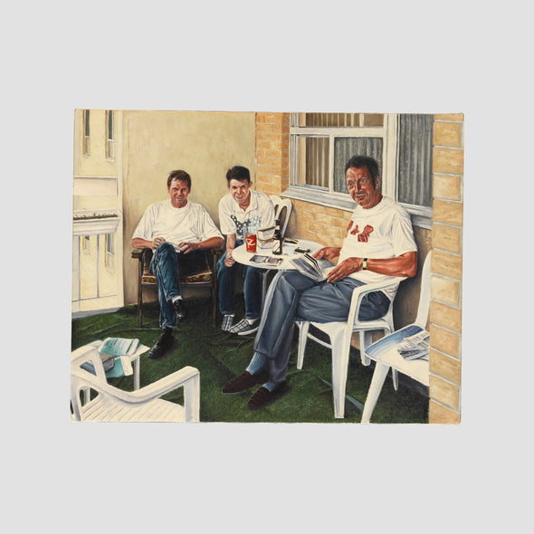 """Three Wise Men"" by Darren Baker, Original Oil on Box Canvas - Joe Scarborough Art"