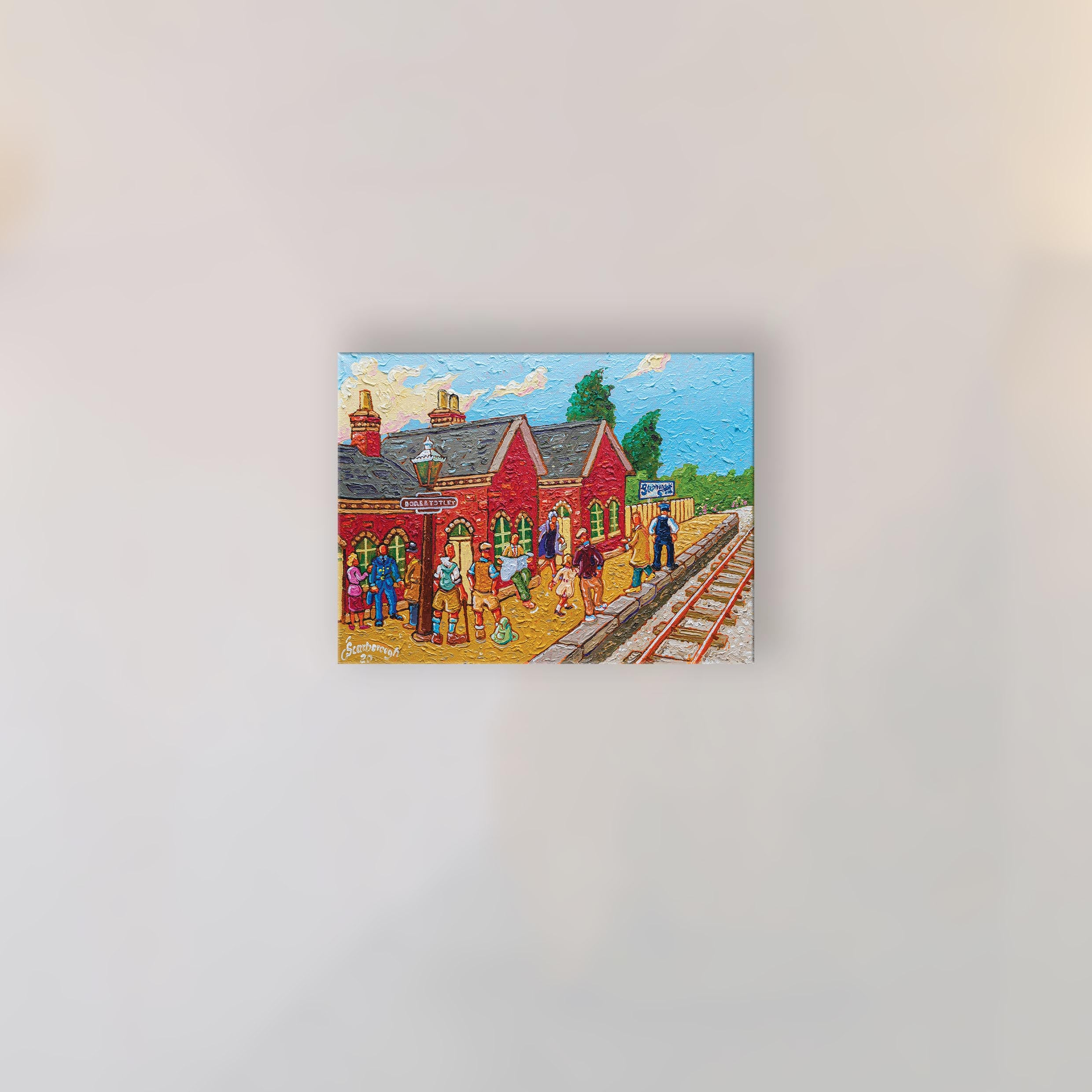 """Dore & Totley Station"" Original Oil Painting on Canvas by Joe Scarborough"