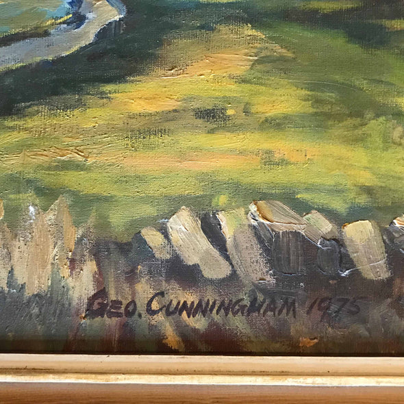 George Cunningham Original Oil Painting Basset Cottage