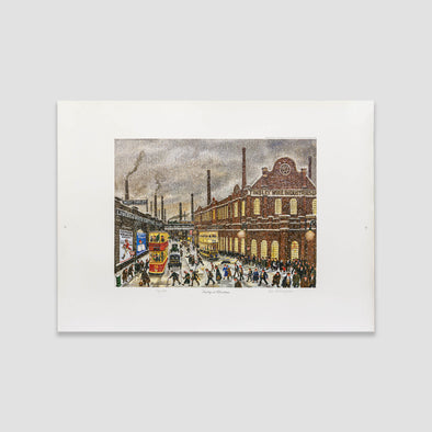 George Cunningham Signed Print Tinsley at Christmas