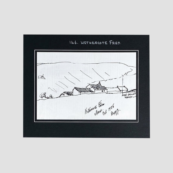 George Cunningham Original Ink Sketch 146. Wethercote Farm - Joe Scarborough Art