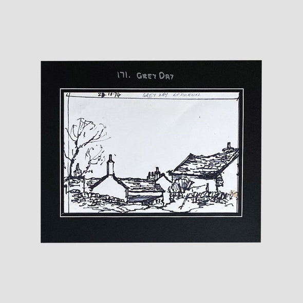 George Cunningham Original Ink Sketch 171. Grey Day - Joe Scarborough Art