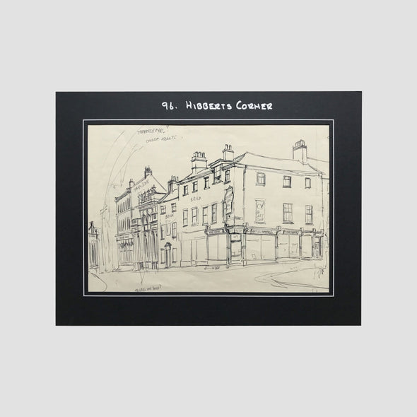 George Cunningham Original Ink Sketch 96. Hibberts Corners - Joe Scarborough Art