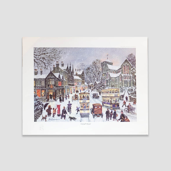 George Cunningham Art Print Ecclesall Church - Joe Scarborough Art