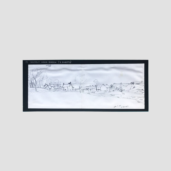 George Cunningham Original Ink Sketch 13. Whitely Wood Green - Joe Scarborough Art