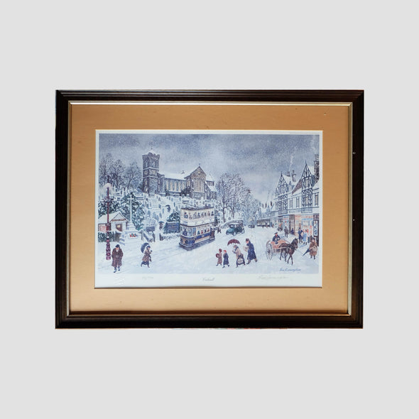 George Cunningham Signed Framed Print Ecclesall - Joe Scarborough Art