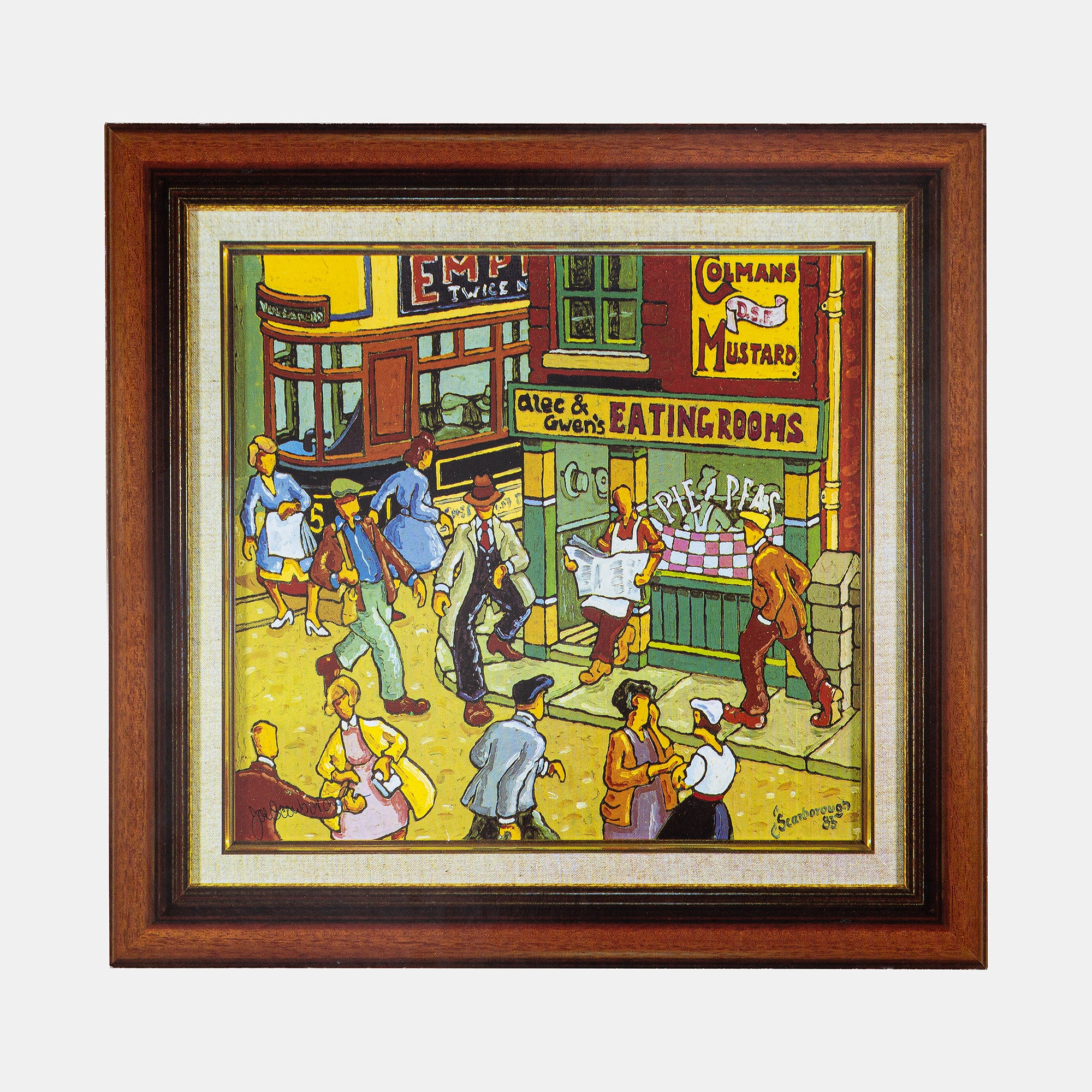 Alec & Gwen's eating rooms by Joe Scarborough Signed Artboard