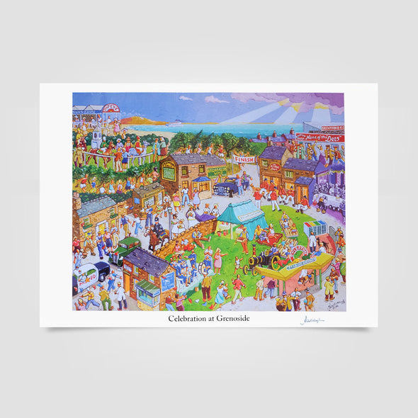 Joe Scarborough Signed Art Print Celebration at Grenoside - Joe Scarborough Art