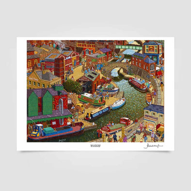 Joe Scarborough Signed Art Print 5pm on the Canal - Joe Scarborough Art