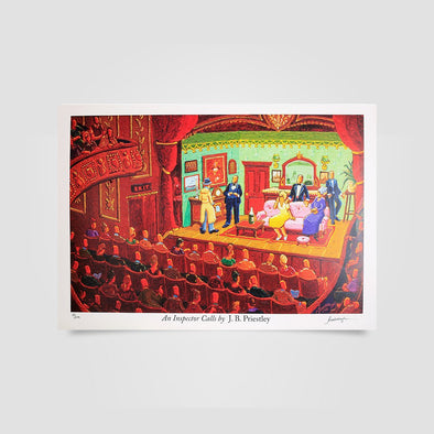 Joe Scarborough Signed Art Print An Inspector calls - Joe Scarborough Art