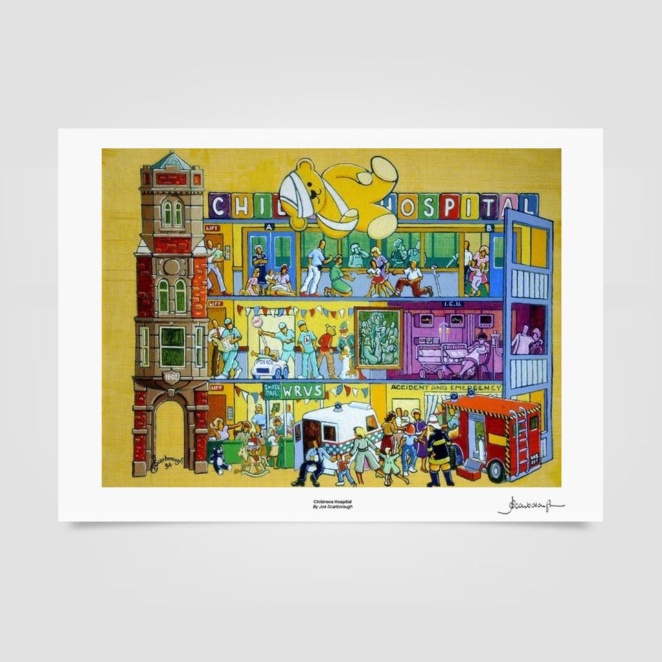 Joe Scarborough Signed Art Print Children's Hospital