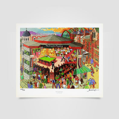 Joe Scarborough Signed Art Print Crucible Theatre - Joe Scarborough Art