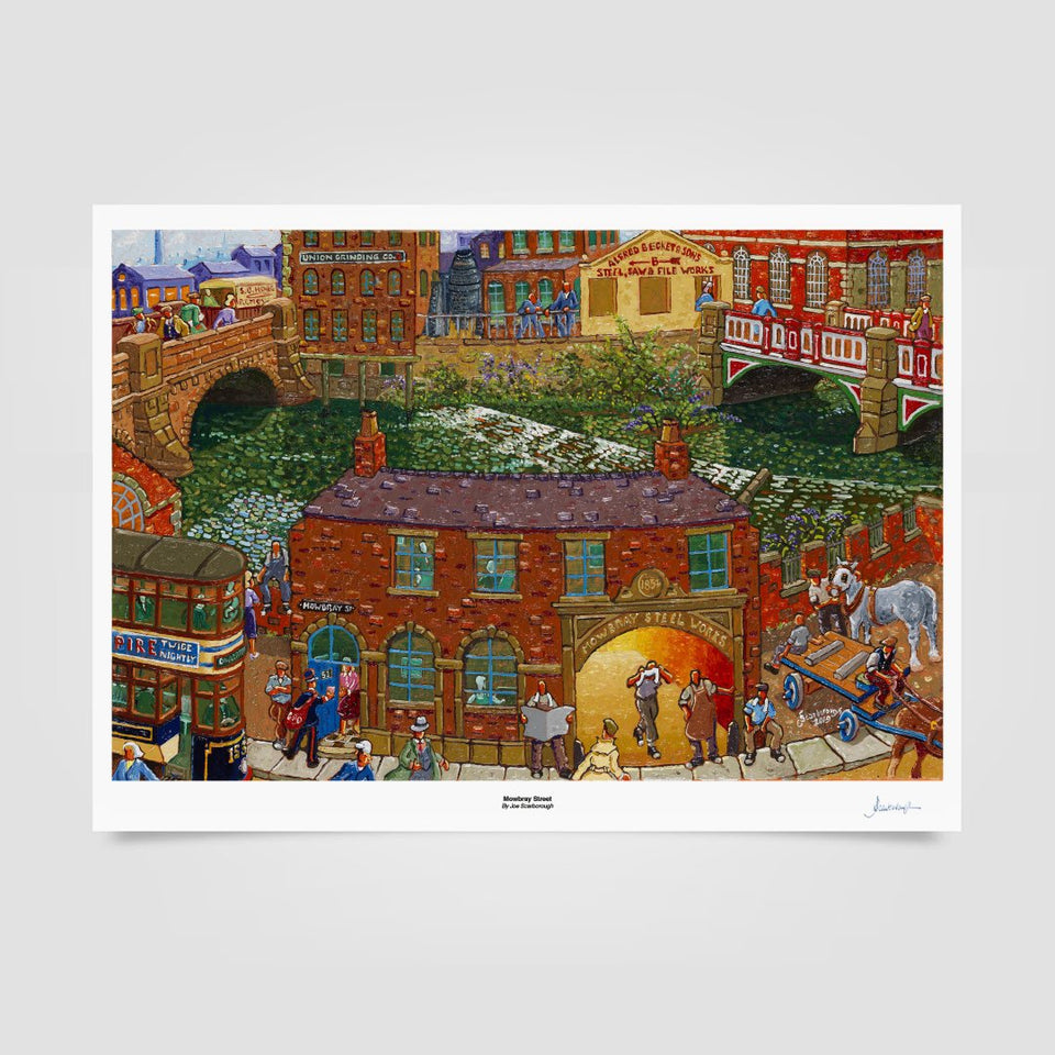 Joe Scarborough Signed Art Print Mowbray Street