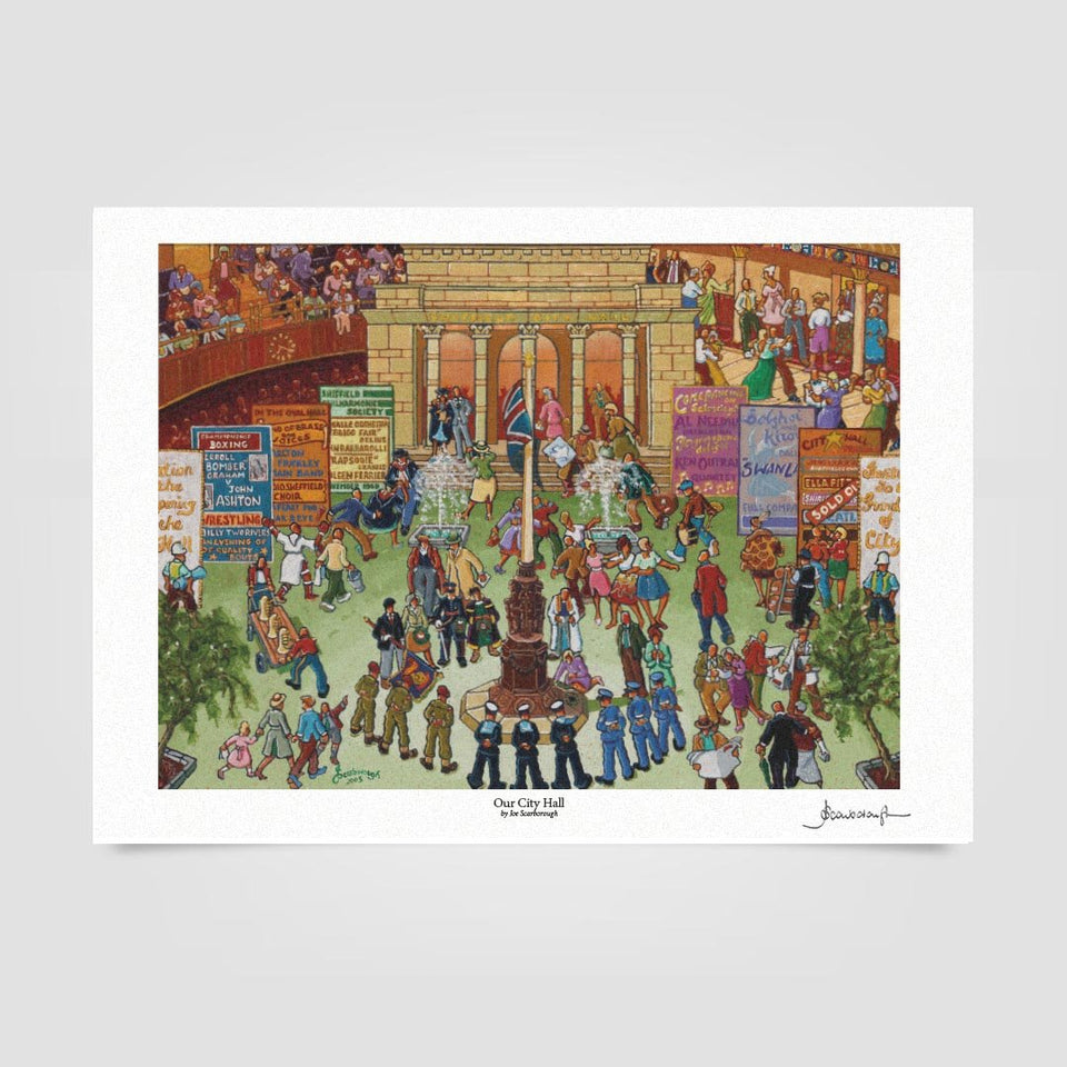 Joe Scarborough Signed Art Print Our City Hall