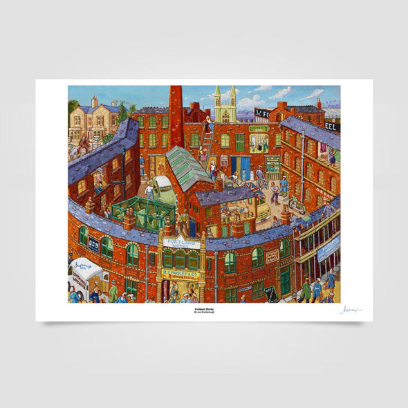 Joe Scarborough Signed Art Print Portland Works - Joe Scarborough Art