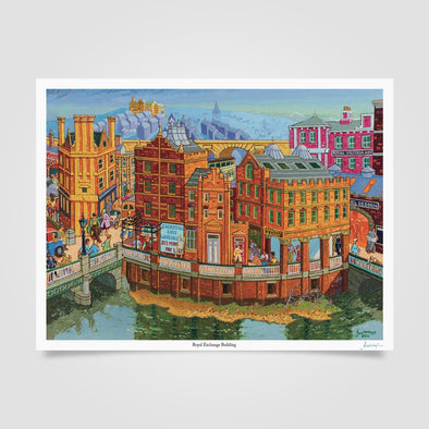 Joe Scarborough Signed Art Print Royal Exchange - Joe Scarborough Art