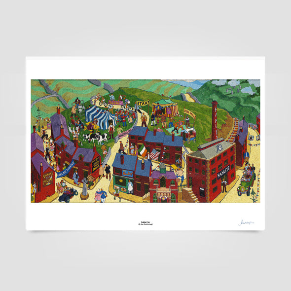 Joe Scarborough Signed Art Print Settle Fair - Joe Scarborough Art
