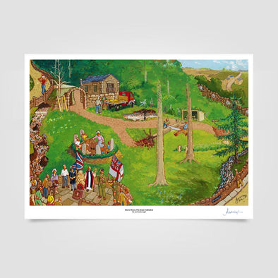 Joe Scarborough Signed Art Print Storrs Wood, The Green Cathedral - Joe Scarborough Art