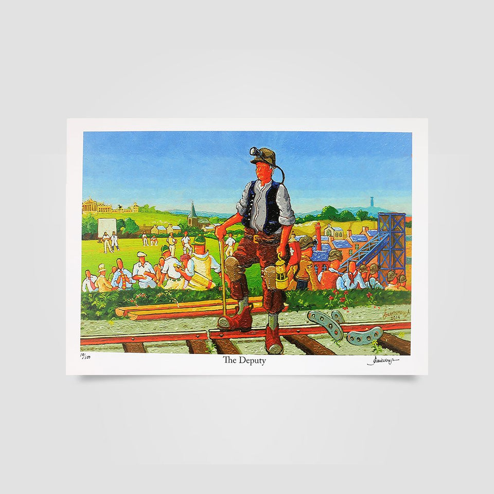 Joe Scarborough Signed Art Print The Deputy
