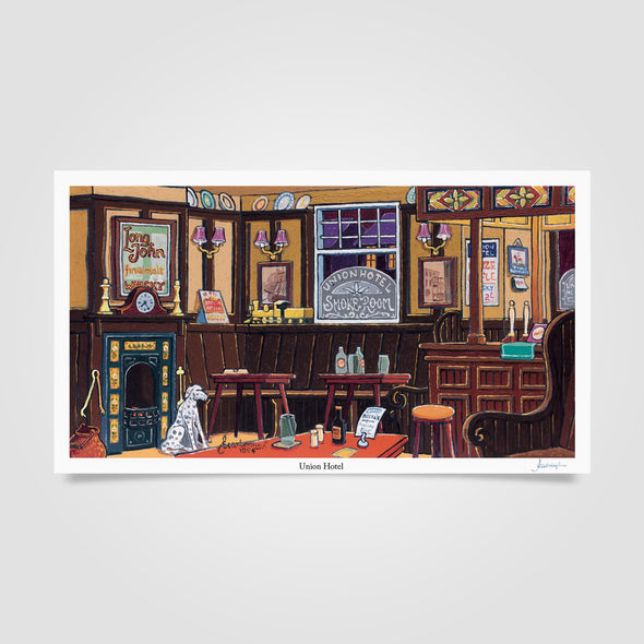 Joe Scarborough Signed Art Print Union Hotel - Joe Scarborough Art
