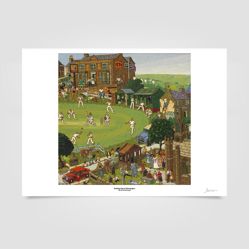 Joe Scarborough Signed Art Print Wedding Day at Stannington