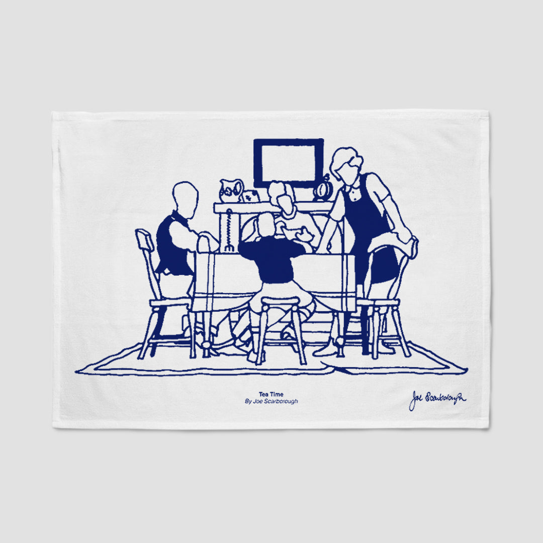 Joe Scarborough Tea Towel Tea Time
