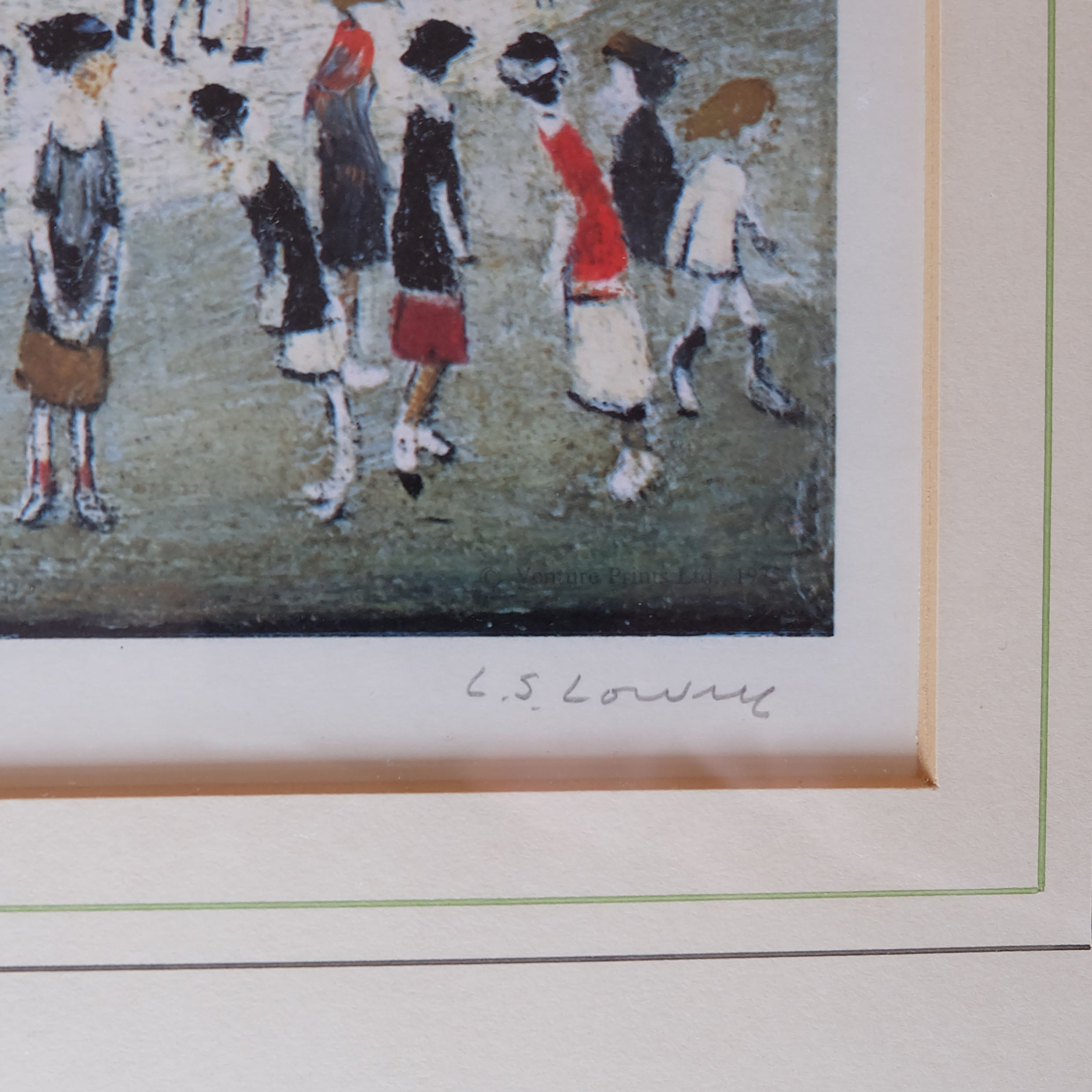 L.S Lowry Signed Art Print Bristol, England - Joe Scarborough Art