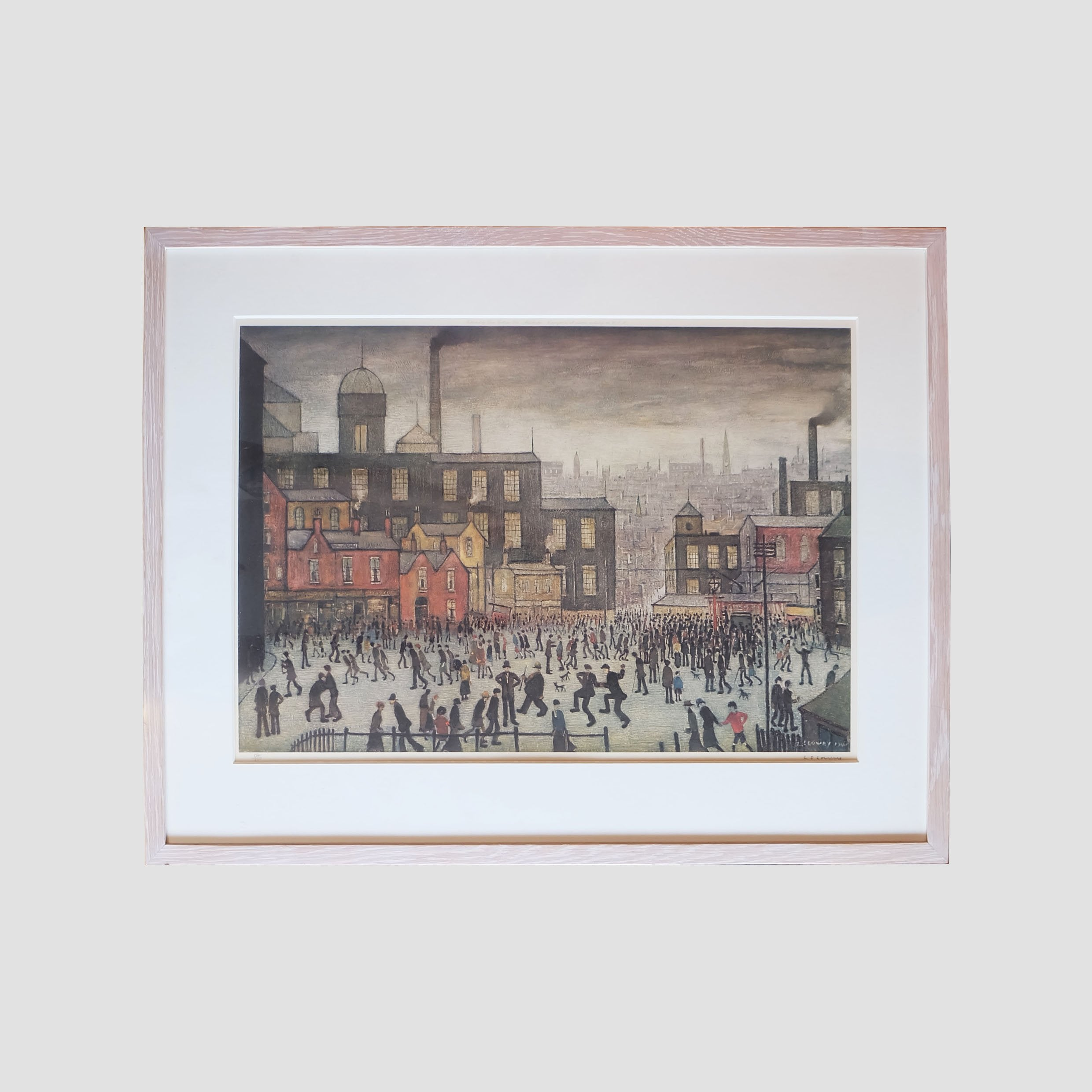 L.S Lowry Signed Art Print Manchester 134/850 - Joe Scarborough Art