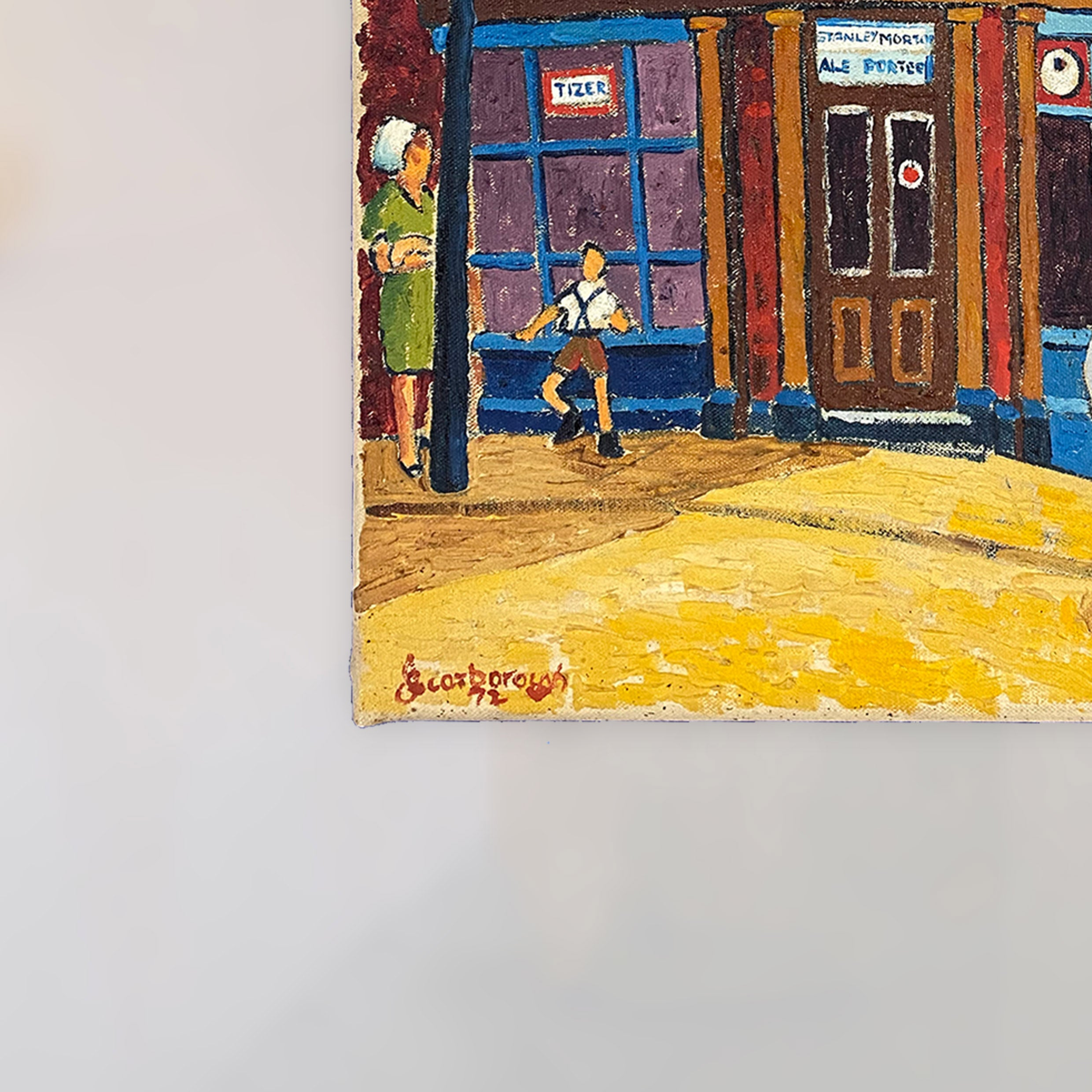 """My Fathers Shop"" Original Oil Painting on Canvas by Joe Scarborough"