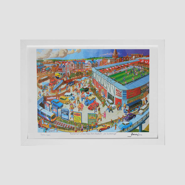 Rotherham United New York Stadium Joe's Copy Art Print - Joe Scarborough Art