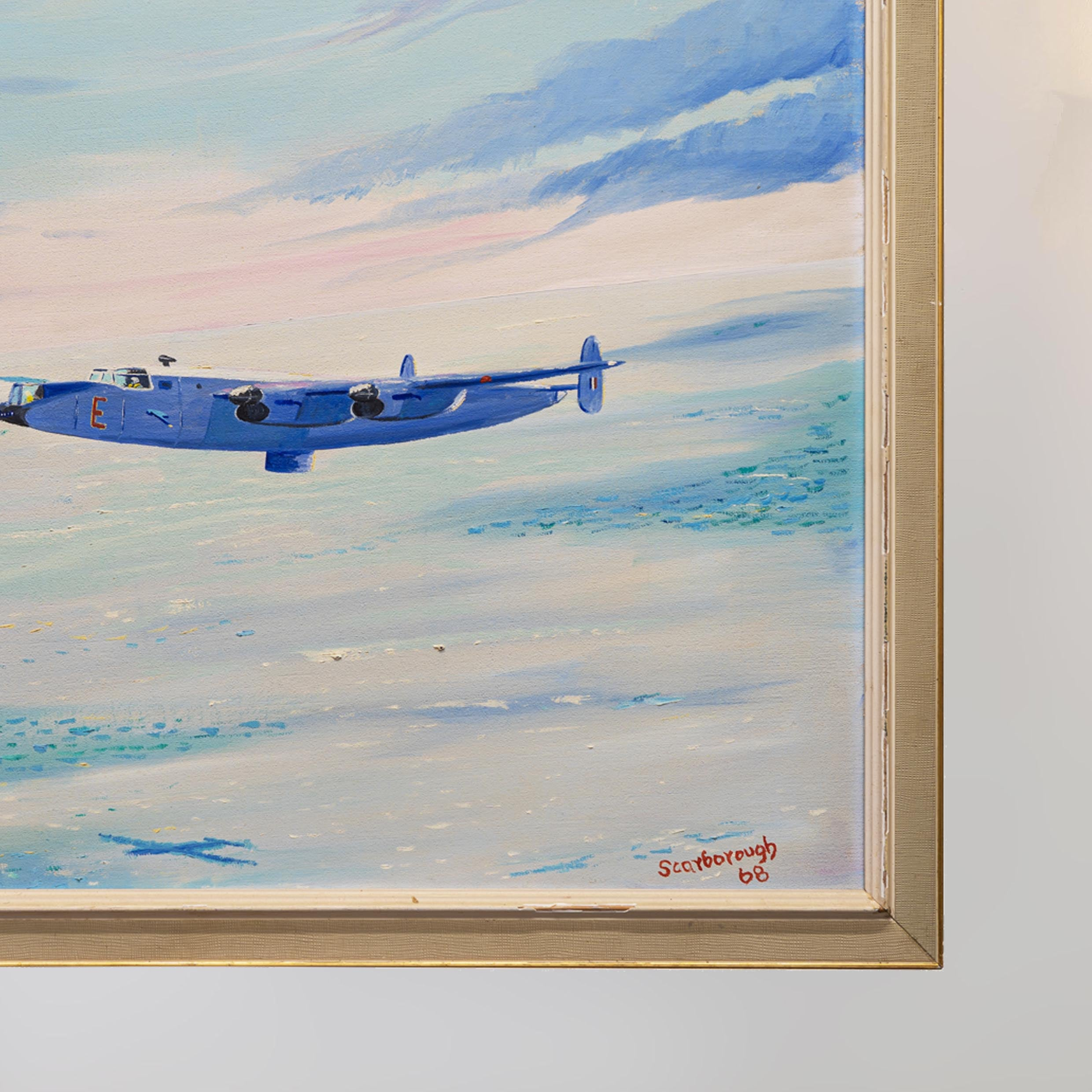 """Shackleton Bomber"" Original Oil Painting on Canvas by Joe Scarborough"