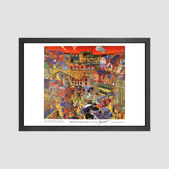 Sheffield at War - Business as Usual Signed Archive Artist Proof Art Print - Joe Scarborough Art