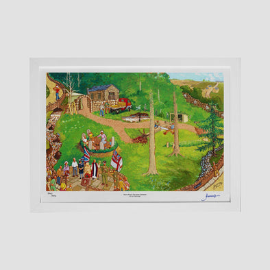 Storrs Wood, The Green Cathedral Signed 200/200 Art Print - Joe Scarborough Art