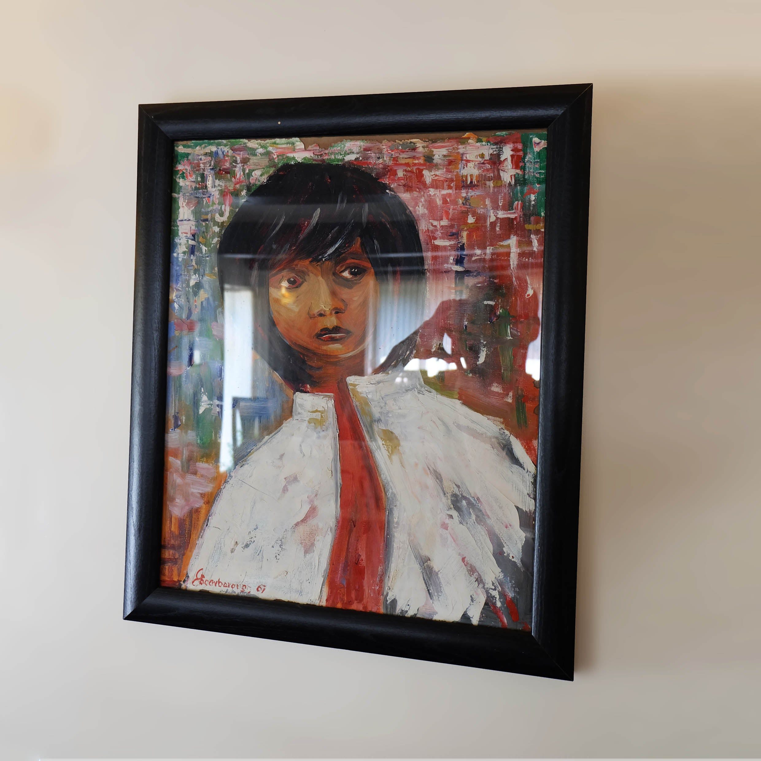 The Girl - Original Oil Painting on Canvas by Joe Scarborough - Joe Scarborough Art