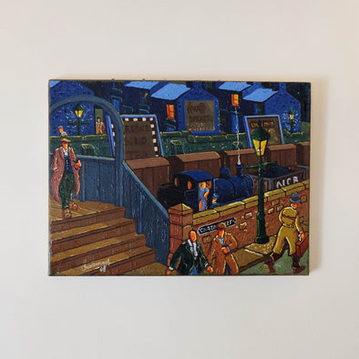 The Station - Original Oil Painting on Canvas by Joe Scarborough - Joe Scarborough Art