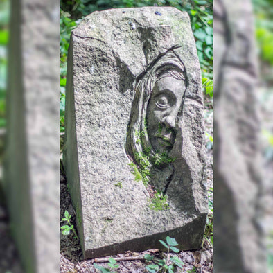 The Woman in Stone Sculpture by Andrew Vickers (Stoneface) - Joe Scarborough Art